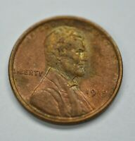 1919-P US Lincoln Wheat Cent Penny UNC Unique Toning on Obverse Green/Red  A582