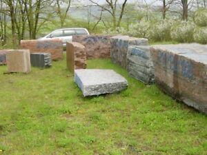 Granitblock Granit Findling Palisaden Blockstufen Naturstein Padang Cristal Marm