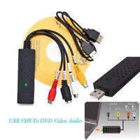 USB 2.0 S-Video Audio Capture Input VHS to DVD Web Converter Tuner Card Adapter