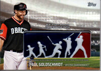 PAUL GOLDSCHMIDT 2018 Topps Players Weekend Commemorative Logo Patch #PWP-PG