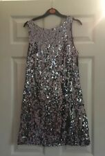 Silver Sequinned Dress Size 10