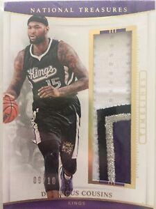 2015-16 NBA Panini National Treasures /10 DeMarcus Cousins #21 Sacramento Kings