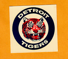 VINTAGE 1960's OLD DETROIT TIGERS LOGO 3 inch DECAL STICKER WINDOW Unsold Unused