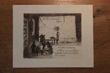 1890 Octave Uzanne carte de voeux artistique Très rare eau-forte Félix Buhot ?