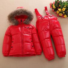 Kinder Babys Nylon Overall Daunenanzug Winter Schlafsack warm Mäntel Suitbag Neu