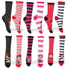 femmes Disney Minnie Mouse Chaussettes RU 4-8 UE 37-42 assortis CADEAU NOËL