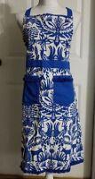 New Women's Blue OpalHouse Kitchen Textiles Cooking Apron One Size Waist Tie