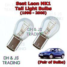 Seat Leon Tail Light Bulbs Pair of Rear Tail Light Bulb Lights MK1 (98-05)