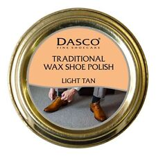 Light Tan Dasco Traditional Wax Shoe Boot Polish Polish Colour Shine New in Tin