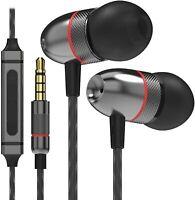 Betron Earphones Headphone Microphone Volume Control Earbuds Great Bass ELR50