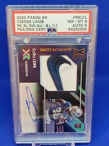 2020 XR Swatch Autographs Nike CeeDee Lamb 1/1 PSA 8/9