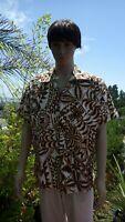 Old Vintage 1960 Paradise Hawaiian Aloha Shirt Hawaii Matson Line Cotton Large