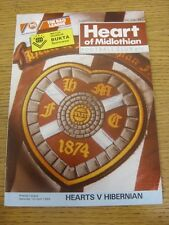 01/04/1989 Heart Of Midlothian v Hibernian [Autographed On Front By: Keith Hoche