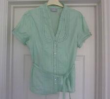 WALLIS Pale Green Ladies Cotton Top BNWT  SIZE 14