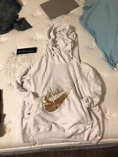 Nike Womens Hoodie White Gold Large
