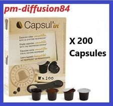LOT de 200 CAPSULES VIDES.  CAPSUL'IN.  CAPSULES de café compatibles Nespresso