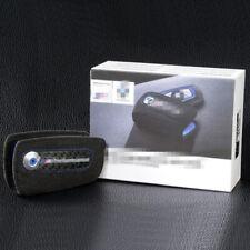 M Performance Carbon Fiber Suede Leather Key Case Bag Fob Holder For BMW Blue