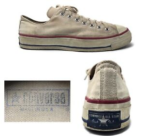 Vtg Converse All Star Original Chuck Taylor Blue Label USA 60's 70's Mens 11.5