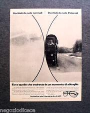 P328 - Advertising Pubblicità -1972- OCCHIALI POLAROID , MOMENTO DI ABBAGLIO