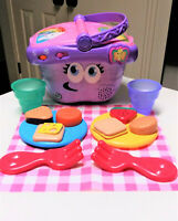 Leap Frog Picnic Basket Learning Shapes Preschool Toddler Music Purple