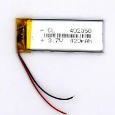 3.7 V 420mAh 402050 Li-Polymer Rechargeable Battery Liion LiPo Cell for GPS MP3