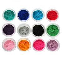 12 Colours Velvet Nail Dust Red Nail Art Chrome Pigment Fuzzy Flocking Powder