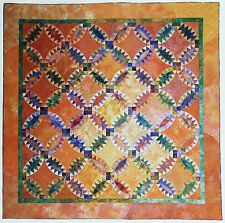 INDIAN WEDDING RING VNTG QUILT PATTERN PAPER FOUNDATION PIECED SOUTHWEST COLORS