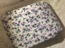Qlty Pottery Barn Teen XL TWIN Cotton Fitted Sheet Blue Roses Pink Floral Nice