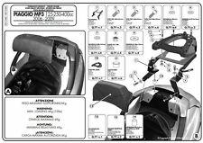 GIVI SR134 ATTACCO PER BAULETTO MONOKEY PER PIAGGIO MP3 BUSINESS 300 2012 2013