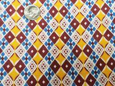 Best Vintage Feedsack Quilt Fabric 40s Geometric Vibrant Design Flour Full Sack