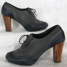 CAMPER Leather & Suede High Heel Lace Up Oxford Shoe Size 36