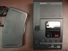 Sony M2000 microcassette transcriber with foot pedal, AC adapter and new headset