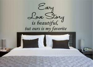 """EVERY LOVE STORY... FAMILY QUOTE VINYL WALL DECAL HOME DECOR 20"""" x 40"""""""