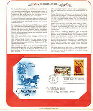 Postal First Day Cover FDC.1550-1551,CHRISTMAS ANGEL, Horse & Sleigh.1974. stamp