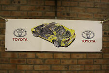 TOYOTA mr2 mk2 PVC grande lavoro Negozio Banner Garage CAR SHOW Banner