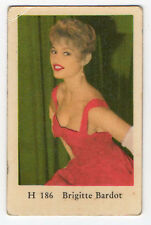 1960s Swedish Film Star Card Star H Set #186 French Sex Symbol Brigitte Bardot