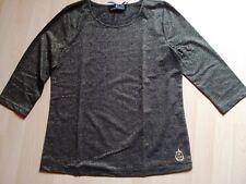 Elegantes Shirt,schwarz m.Gold-Glanzgarn,Gr.38 v.Alfredo Pauly,3/4 Arm, Neu