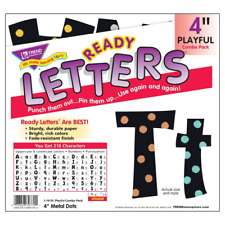Metal Dots 4Inch Display Letters Classroom Decoration - 216 Characters