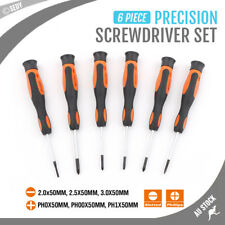 6pc Screwdriver Set Precision Repair PC Laptop Phone Electronic Phillips Slotted
