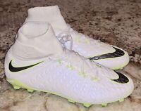 NIKE Hypervenom Phantom III Dynamic Fit White Soccer Cleats Youth Boys Girls 5