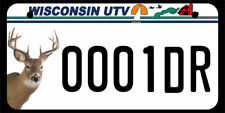 "5""X10"" UTV/ATV license Plate, 0001dr"