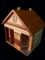 Vintage dollhouse For A dollhouse 3 by 3.5 by 4 inches