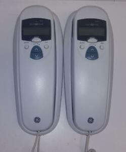 Lot of 2 GE General Electric (29196GE1-A) Corded Home Telephone With Caller I.D