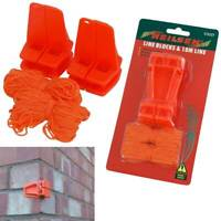 2x Brickies Line Blocks + 18M Line | 2 Plastic L Shaped Corner Blocks Brick