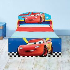 OFFICIAL DISNEY CARS TODDLER BED BLUE RED LIGHTNING MCQUEEN NEW FREE P+P