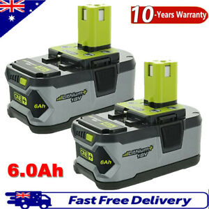 2Pack 6.0Ah 18V Battery For Ryobi ONE+ PLUS Lithium-ion P108 P105 P104 P102 P107