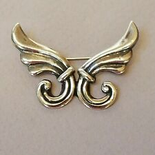 """Vintage Taxco Mexico Sterling Silver Pin Brooch 1&3/4"""" X 1&1/4"""""""