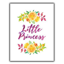 Little Princess Metal Wall Plaque Sign shabby vintage print home bedroom decor