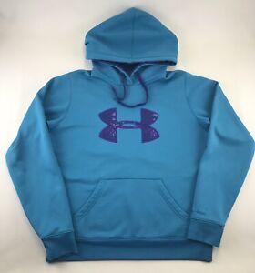Under Armour Storm Women's Teal & Purple Camo Hoodie Hooded Sweatshirt Sz Medium