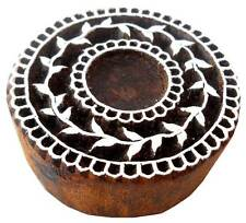 Round Floral Shaped wooden block stamp Tattoo India Textile Printing Block